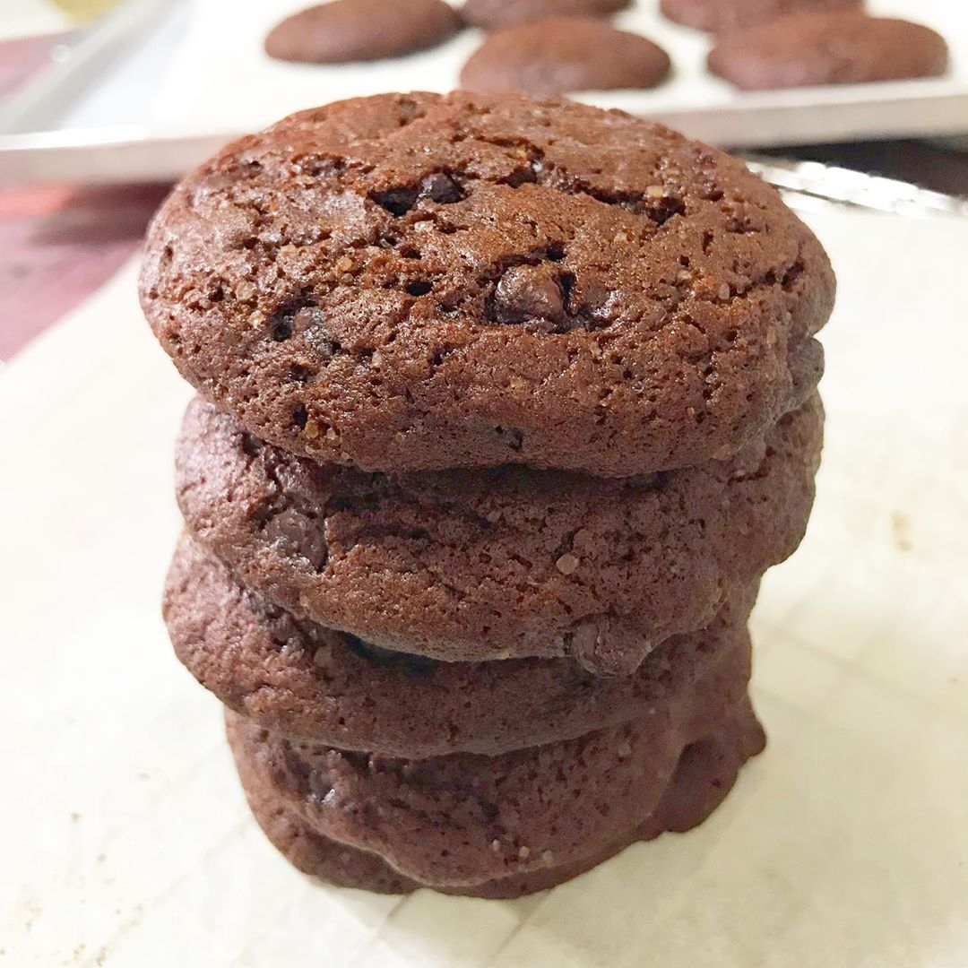 Double Chocolate Chip Cookies Who can resist this temptation 😋 . . .