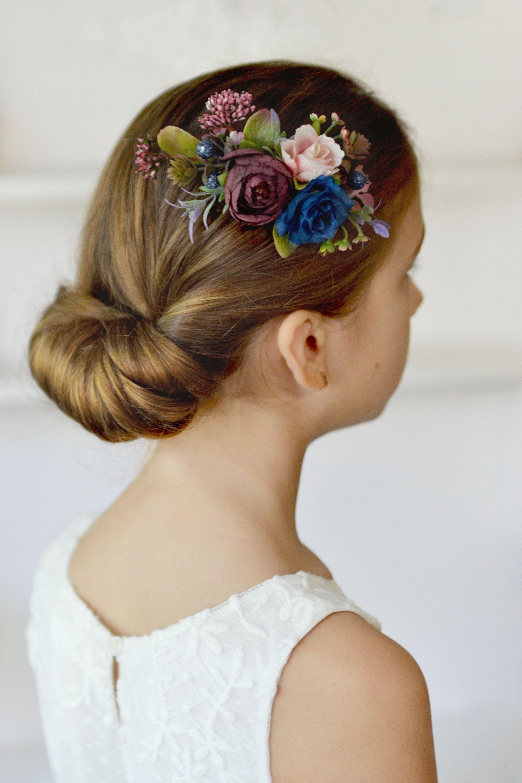 flower girl headpiece burgundy