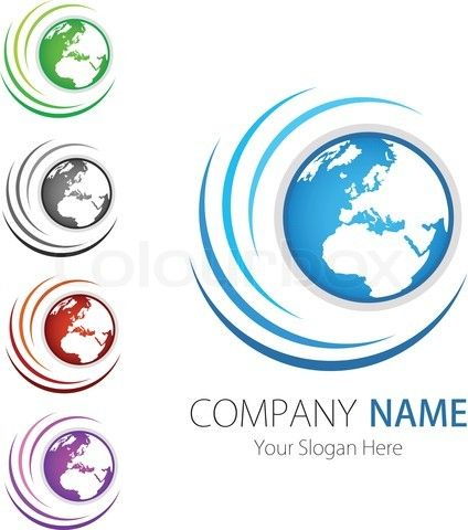 earth logo design free stock vector of company business logo design