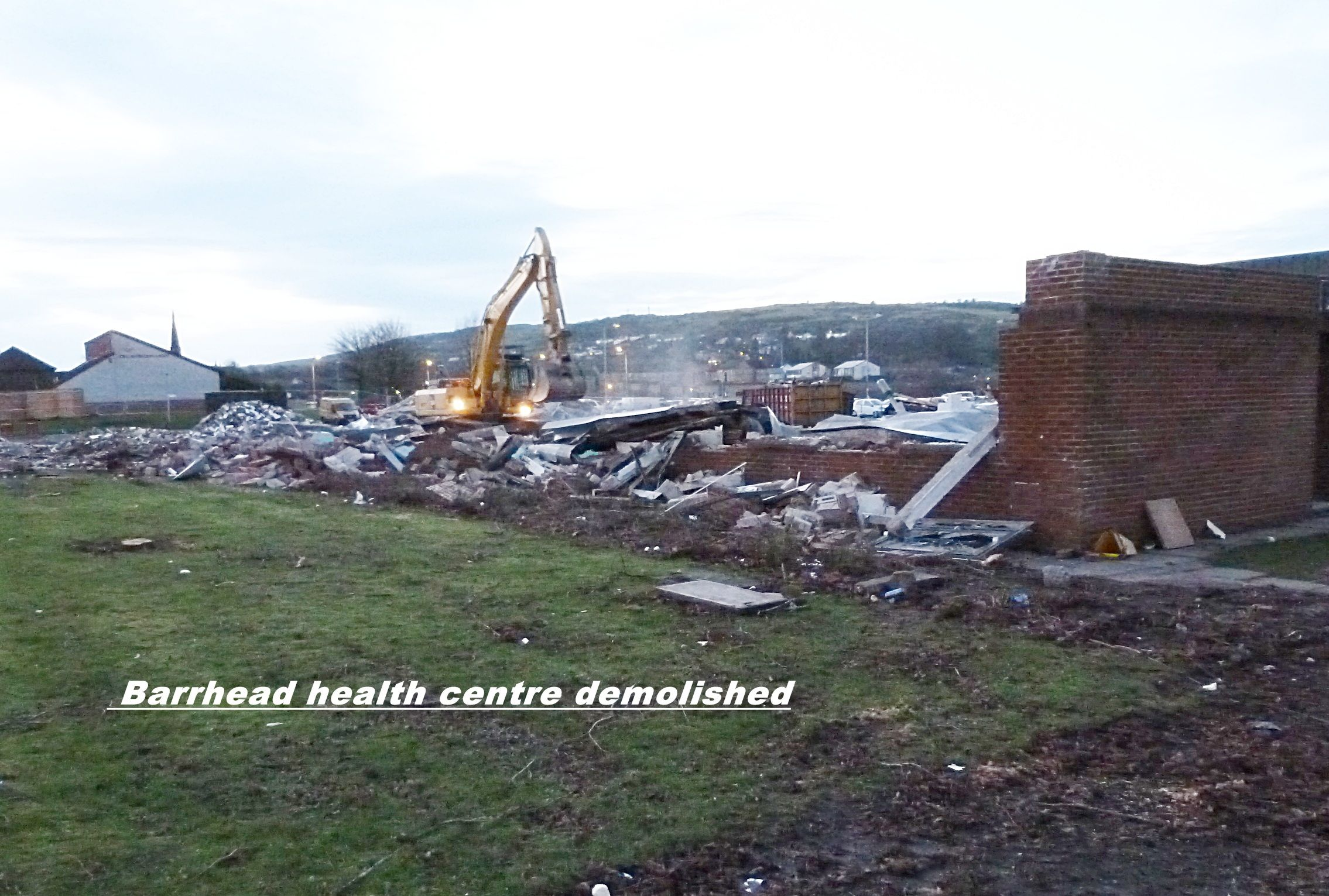 Old health centre demolished, Barrhead. (With images
