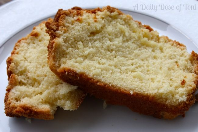 Paula Deen Sour Cream Pound Cake Recipe A Daily Dose Of Toni Sour Cream Pound Cake Pound Cake Recipes Cake Recipes