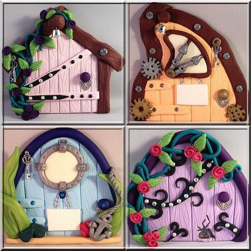 How to make polymer clay fairy doors for Fairy doors to make
