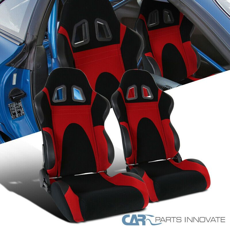 Ad eBay) Black Red Suede Leather & PVC Reclinable Type-6