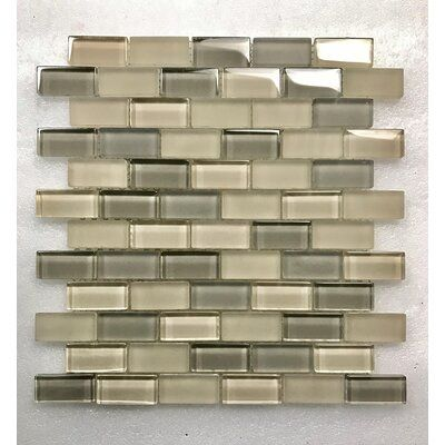 Abolos Abolos Free Flow 1 X 2 Glass Brick Mosaic Wall Tile Color Oyster Beige In 2020 Marble Mosaic Mosaic Tiles Mosaic Wall Tiles