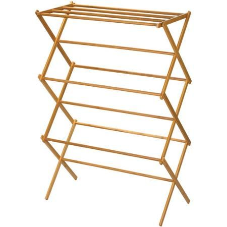 Clothes Drying Rack Walmart Alluring Household Essentials Bamboo Folding Clothes Drying Rack  Walmart Decorating Inspiration