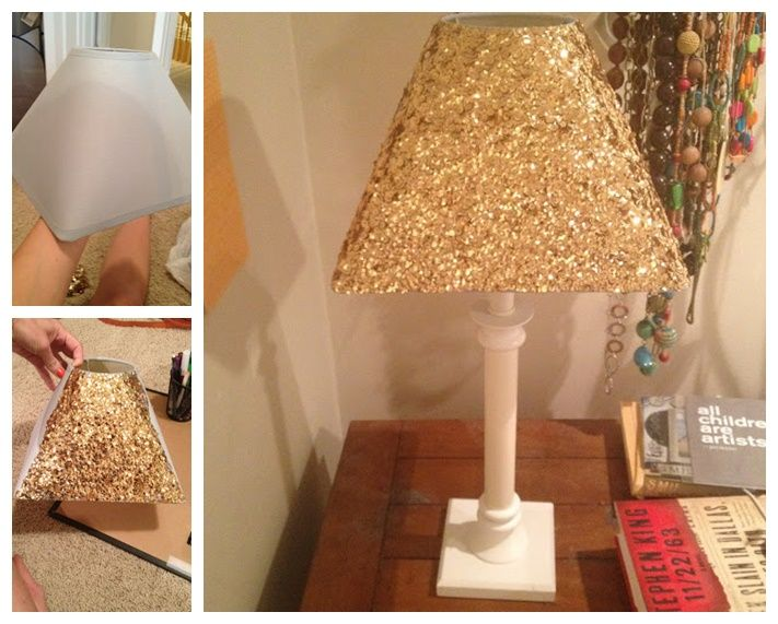 Wonderful Diy Gold Sequin Lamp Shade Lamp Shade Decorate Your Room Dorm Room Lights
