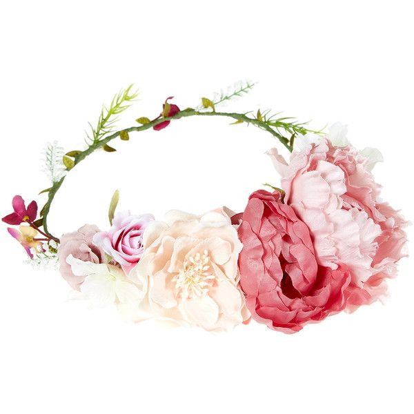 Ruby Flower Crown Bando ❤ liked on Polyvore featuring accessories ... 83329fb00be