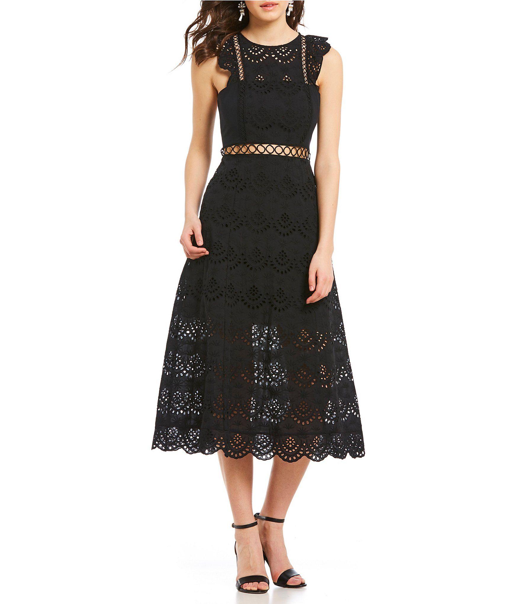 ae74b8b1 Black And White Lace Dress Dillards   Saddha