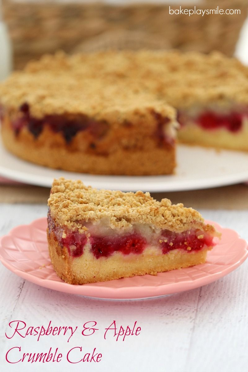 Raspberry Apple Crumble Cake Conventional Method Recipe