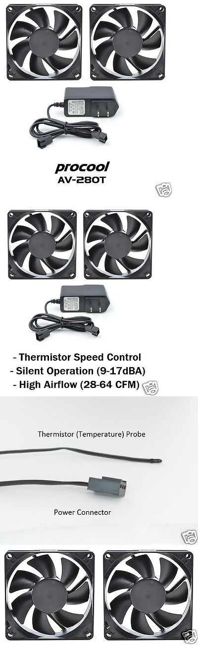 Other TV Video And Audio Accs: Av Cabinet Cooling Fan System   Dual 80Mm  Thermistor