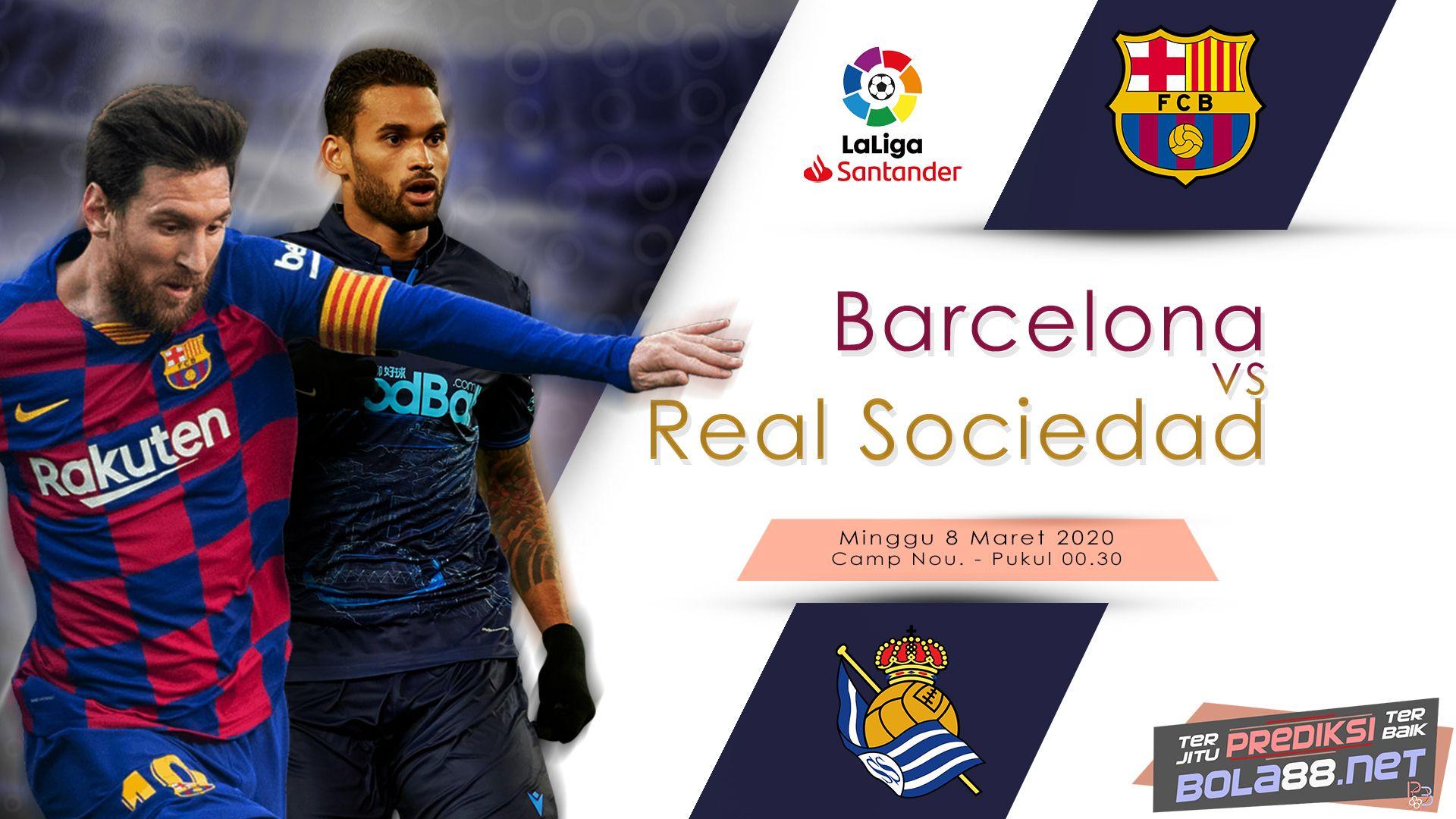 Barcelona Vs Real Sociedad Utah Jazz Bola Dunia Sepak Bola