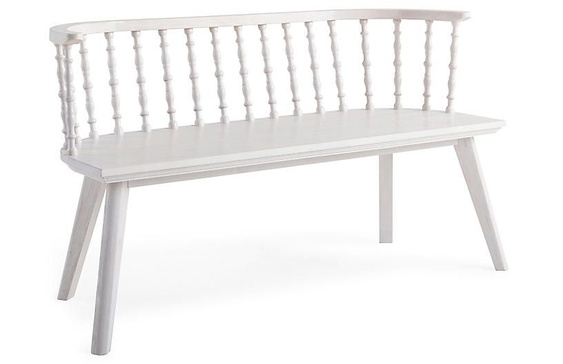 Astounding Wythe Windsor Bench Whitewash Bee Willow Home Bralicious Painted Fabric Chair Ideas Braliciousco