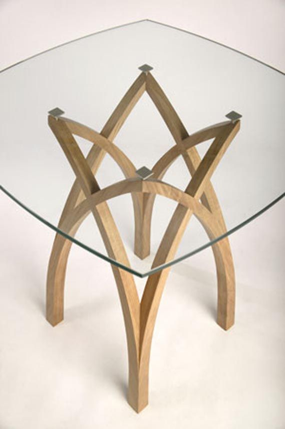contemporary oak table design glass top