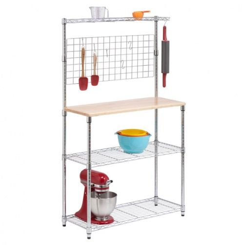 Chrome 2-shelf Urban Baker\u0027s Rack - great for a pantry For the