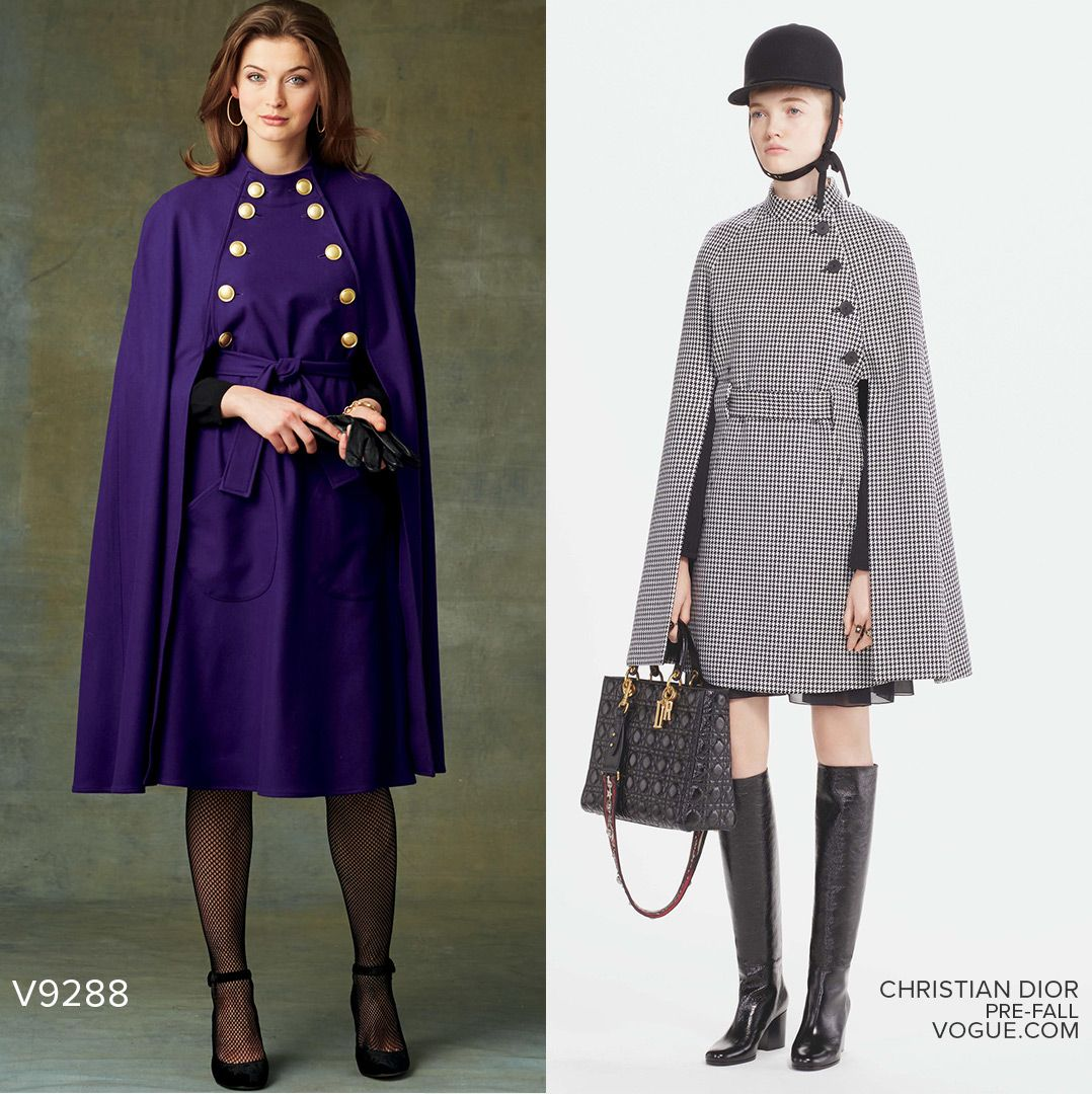 Sew The Look Tm Vogue Patterns V9288 Cape Pattern Sewthelook