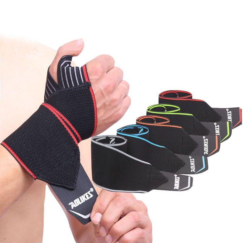 2pcs Weight Lifting Wrist Support Brace Elastic Wrap Strap Band Sports Glove Gym