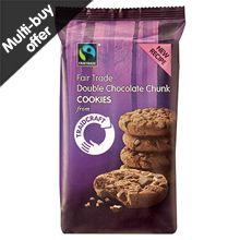 Traidcraft Double Chocolate Chunk #Fairtrade Cookies (200g) £1.50