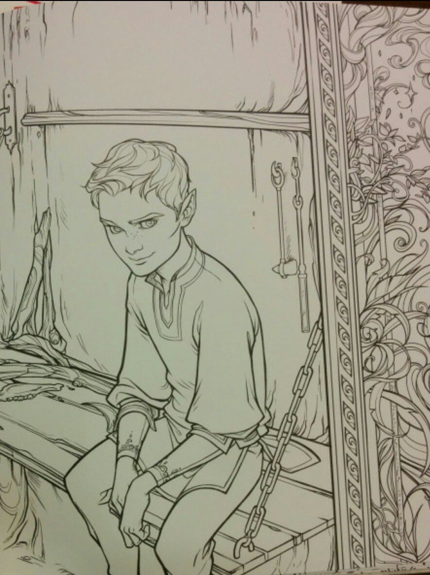 The Bone Carver Official Pictures From A Court Of Thorns And Roses Coloring Book