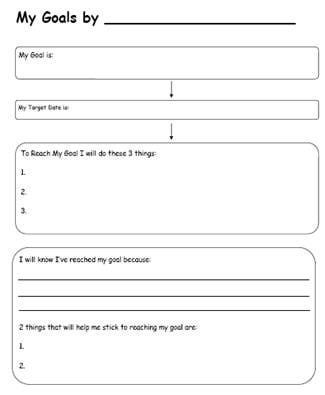 Printables Student Goals Worksheet student goals worksheet davezan 1000 images about resources for morris on pinterest anxiety goal setting students