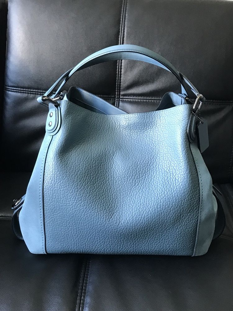 f40bad0e COACH Edie Shoulder Bag 42 In Mixed Leathers Dk/Chambray Original ...
