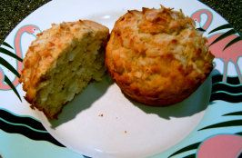 Banana Coconut Muffins- I added chocolate chips too! Very good!!