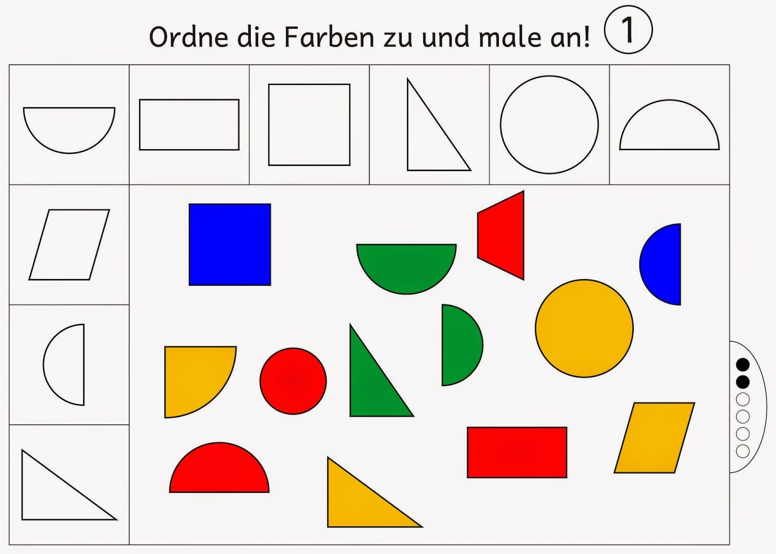 farben zuordnen und anmalen level 2 geometria math for kids kids parenting und math. Black Bedroom Furniture Sets. Home Design Ideas