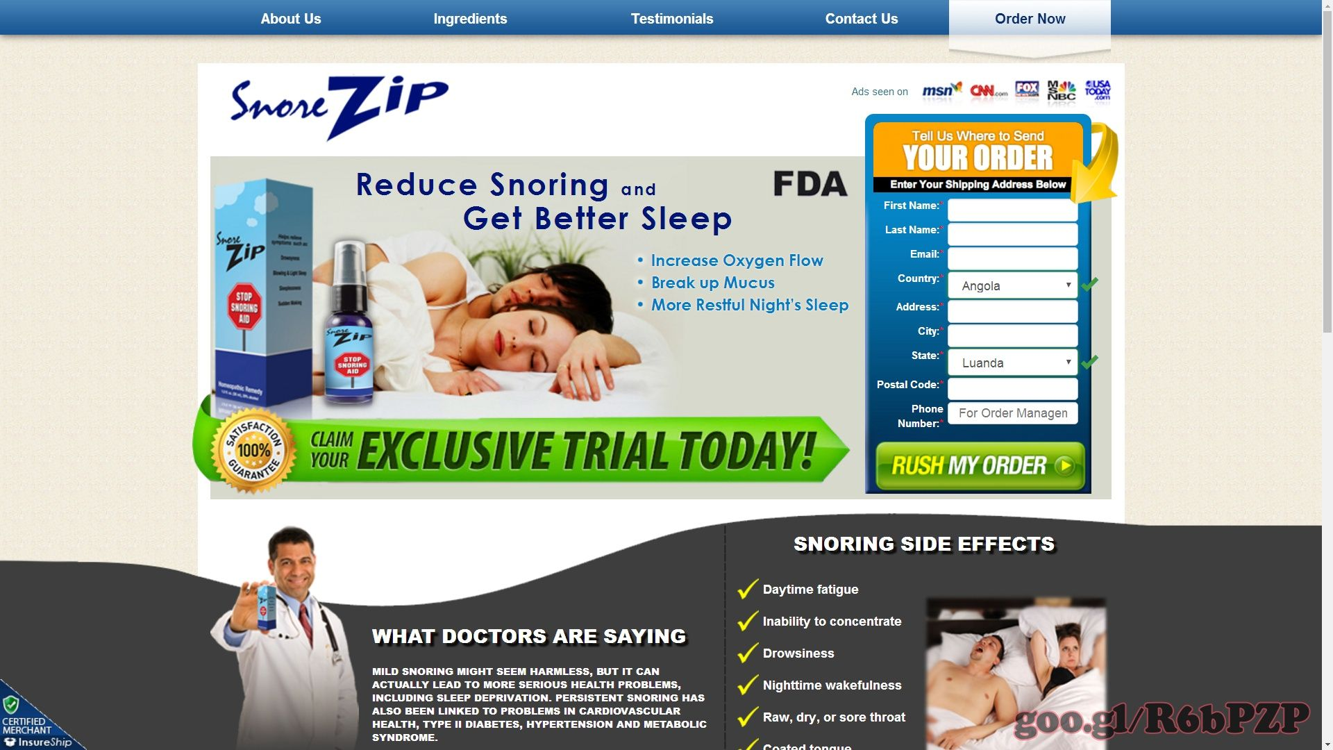 Snorezip General Health Products Snoring English Offers
