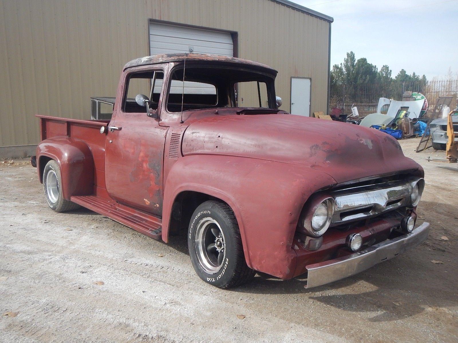 Ebay 1956 Ford F 100 Truck F100 Pickup Hot Rat Rod 1955 Project
