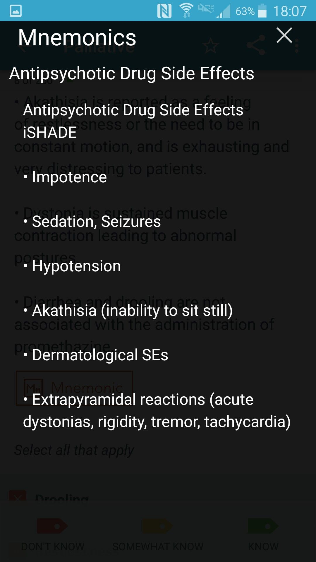 Antipsychotic Medication Side Effects Mnemonic With