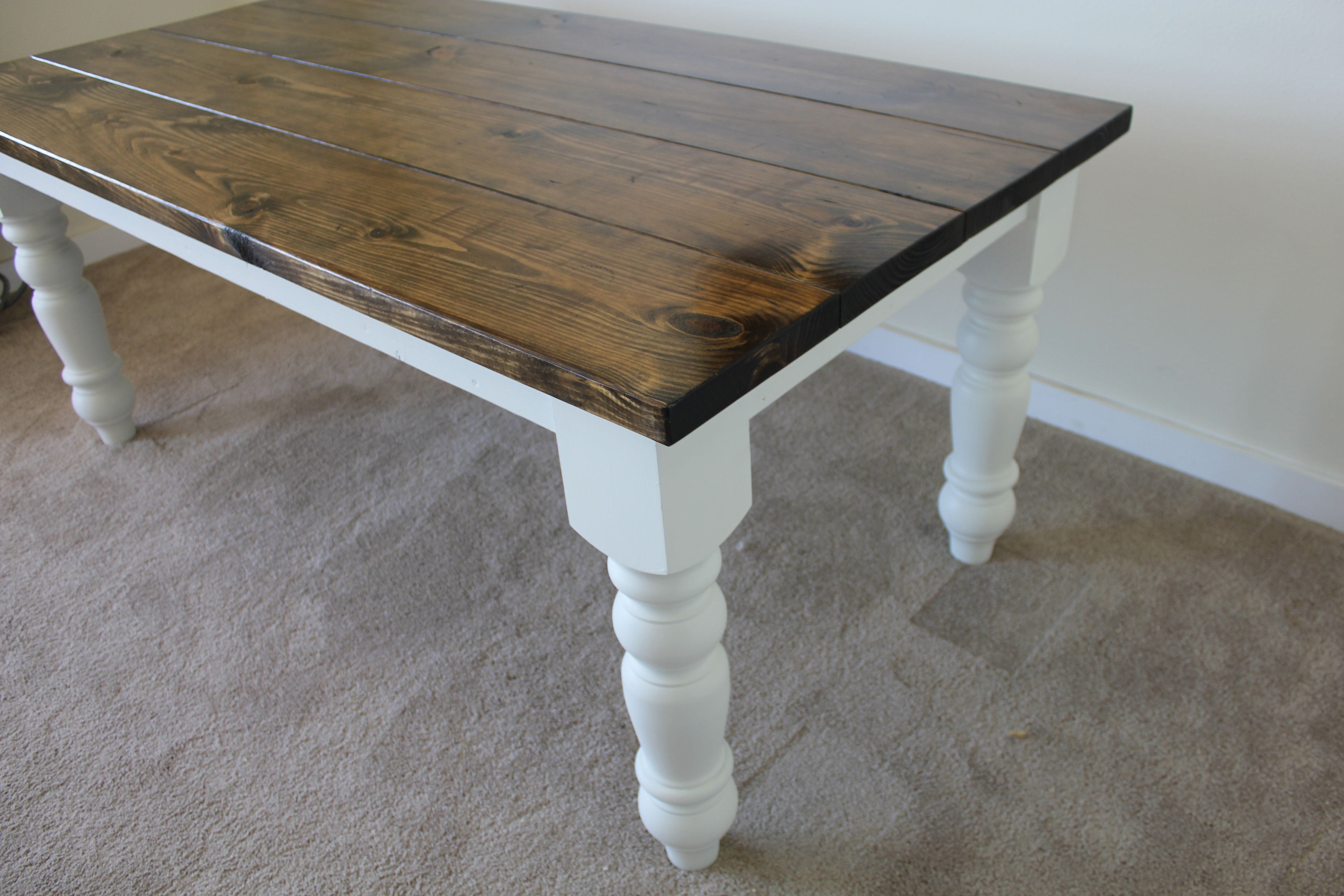 6ft farmhouse all wood rustic barn wood looking dining or for Wood balusters for tables