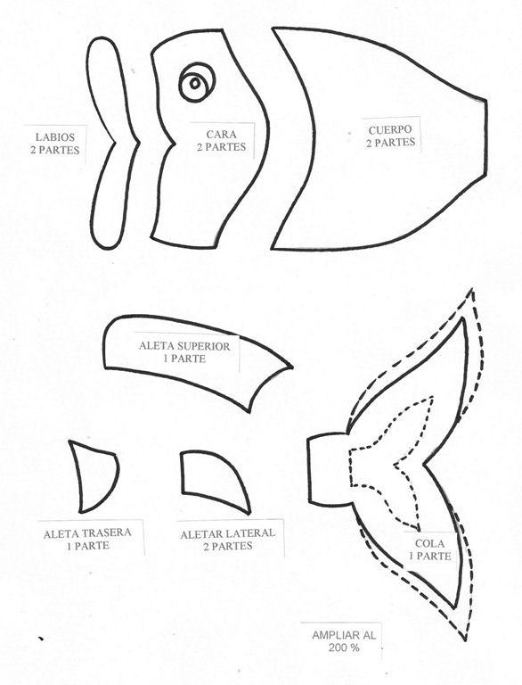 Disfraz Pez Goma Eva … | moldes | Pinterest | Pez goma eva ...