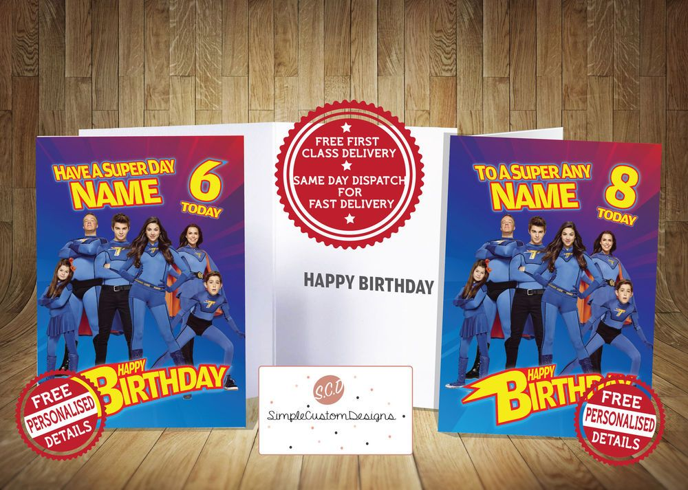The Thundermans Personalised Birthday Card Free 1st Class