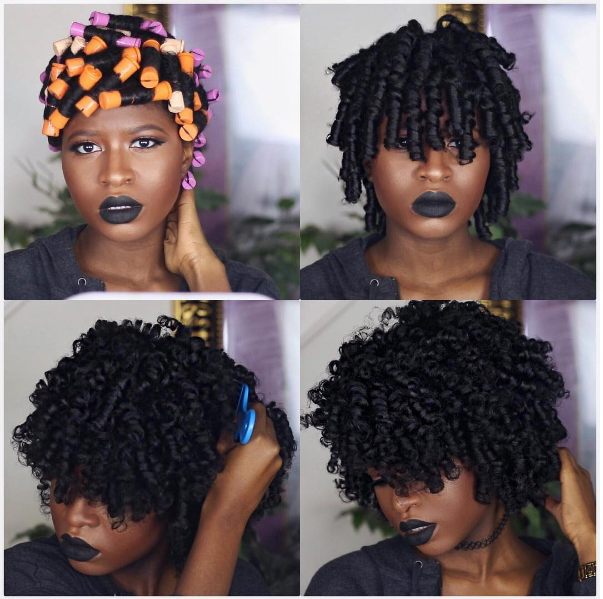 Make The Perfect Perm Rod Set On Thick Natural Hair For The Ultimate Curl Defined Look Thi Thick Natural Hair Short Natural Hair Styles Natural Hair Perm Rods