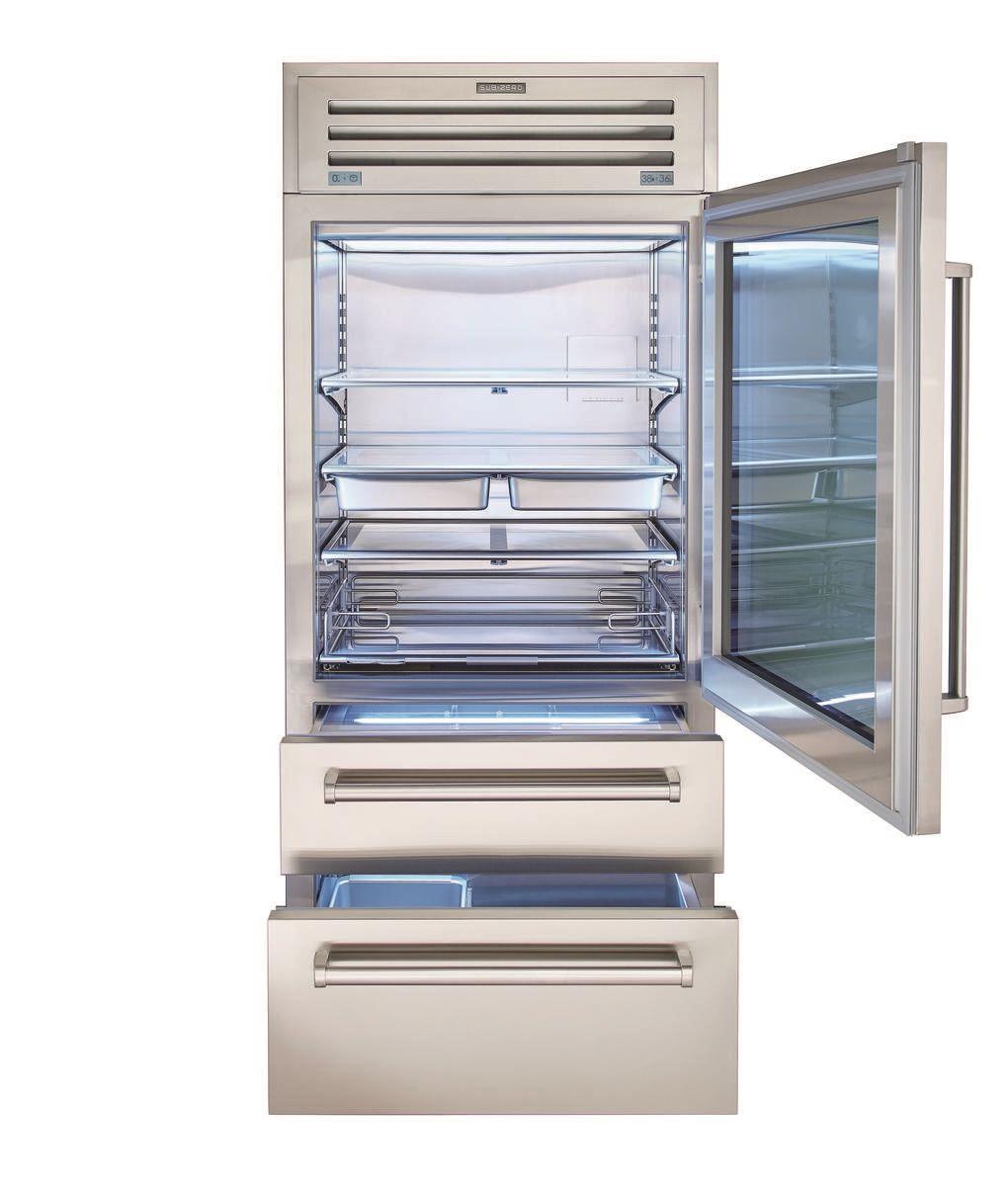 Sub Zero 36 Pro Refrigerator Freezer With Glass Door Pro3650g Glass Door Refrigerator Refrigerator Freezer Glass Door