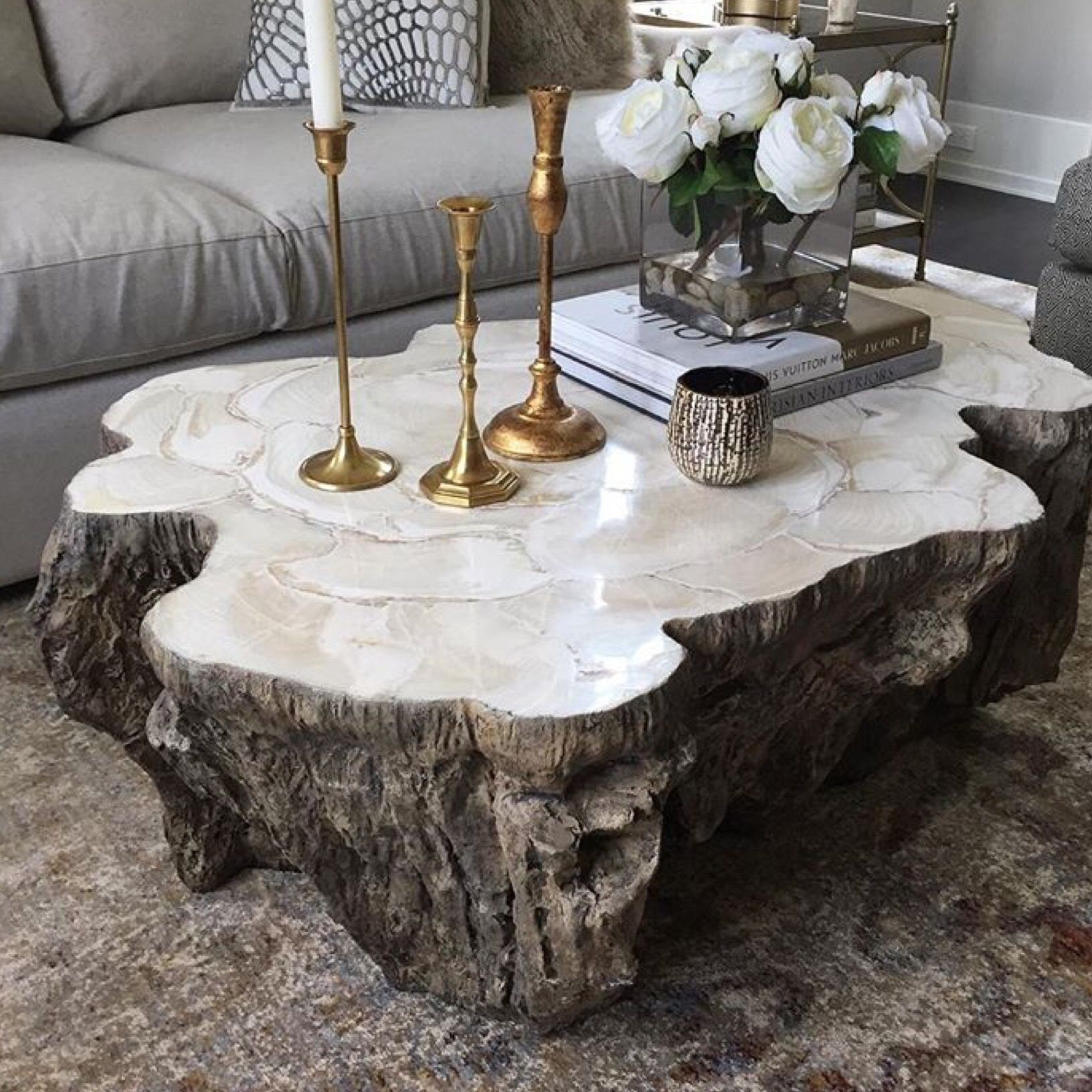 Chloe Fossiled Clam Coffee Table Coffee Tables