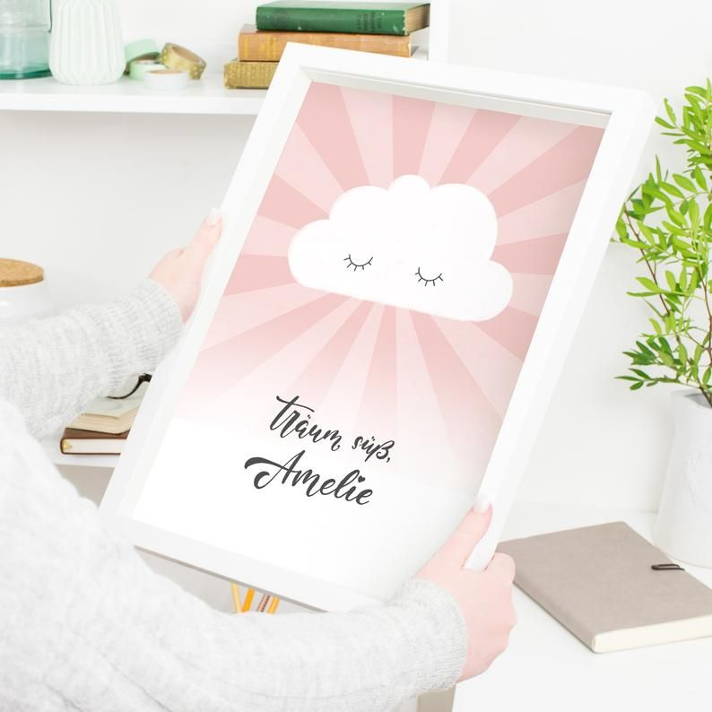 Nursery picture name and color customizable cloud