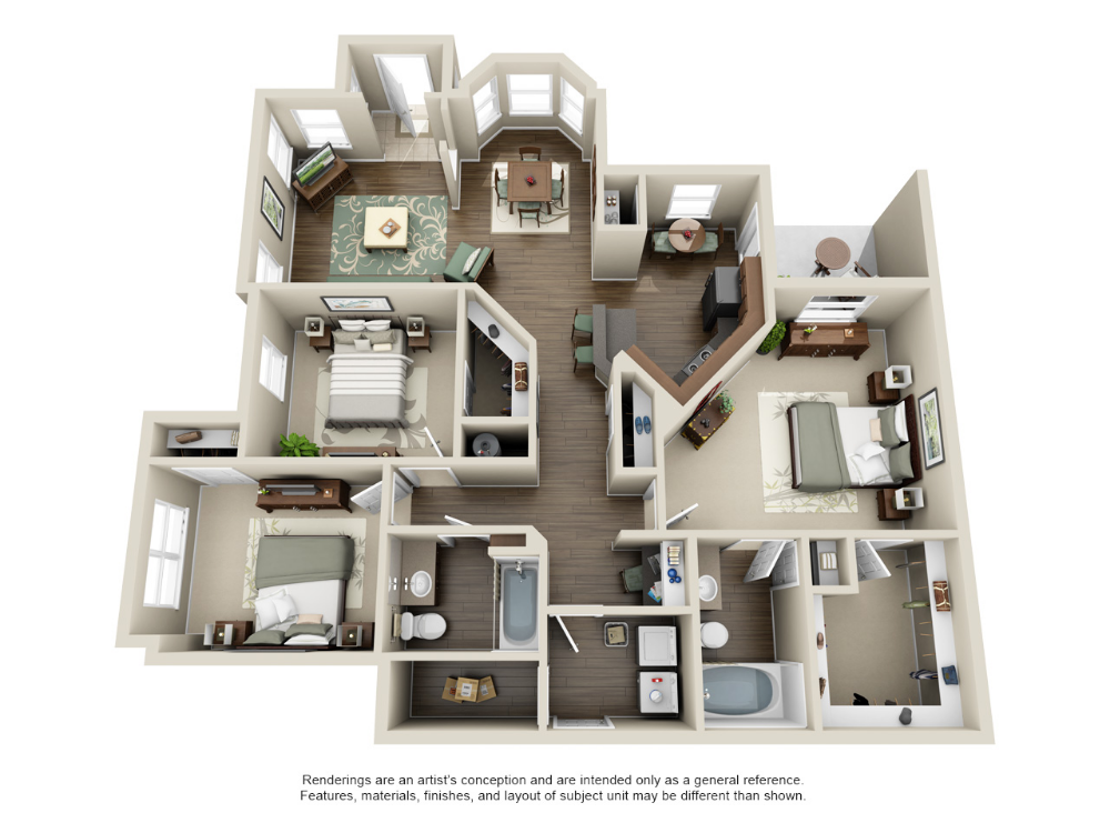 1 2 And 3 Bedroom Apartments In Kingwood Tx Sims House Plans