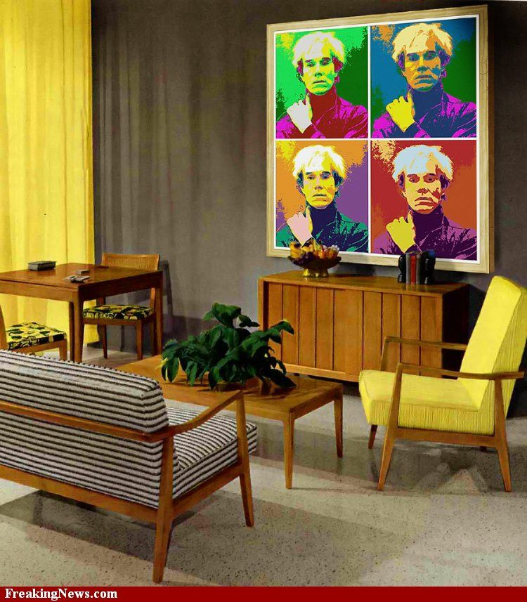 1960's living room ...Id' love an Andy hanging on my wall