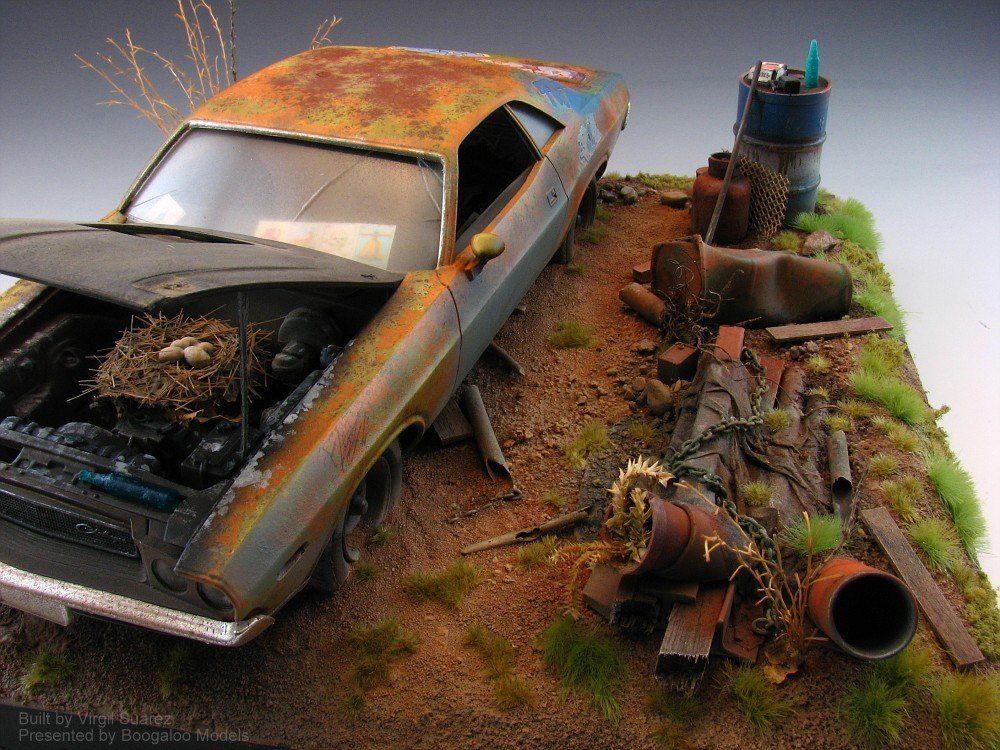 Great Diorama By Virgil Suarez Car Model Diorama Scale Models Cars