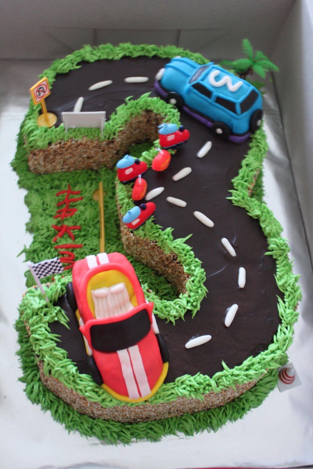 Rahas Oven Birthday Cake No  Cake With Cars Birthdays - 3 birthday cake