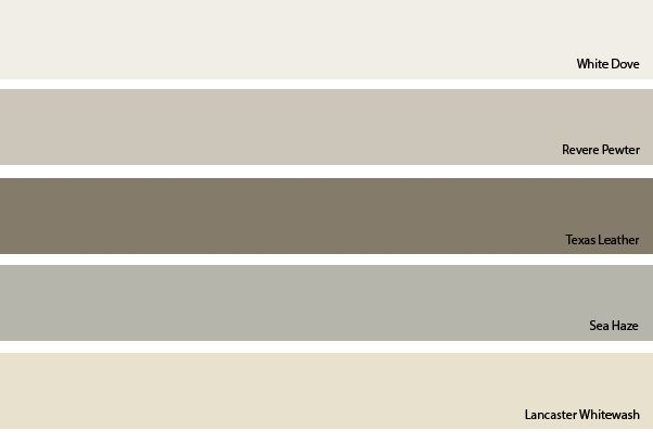 Color Palette With Revere Pewter Benjamin Moore