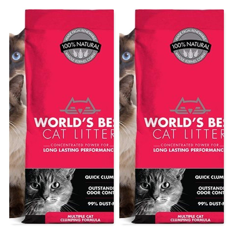 World's Best 2 Pack Cat Litter ORIGINAL SERIES, 14 Pound