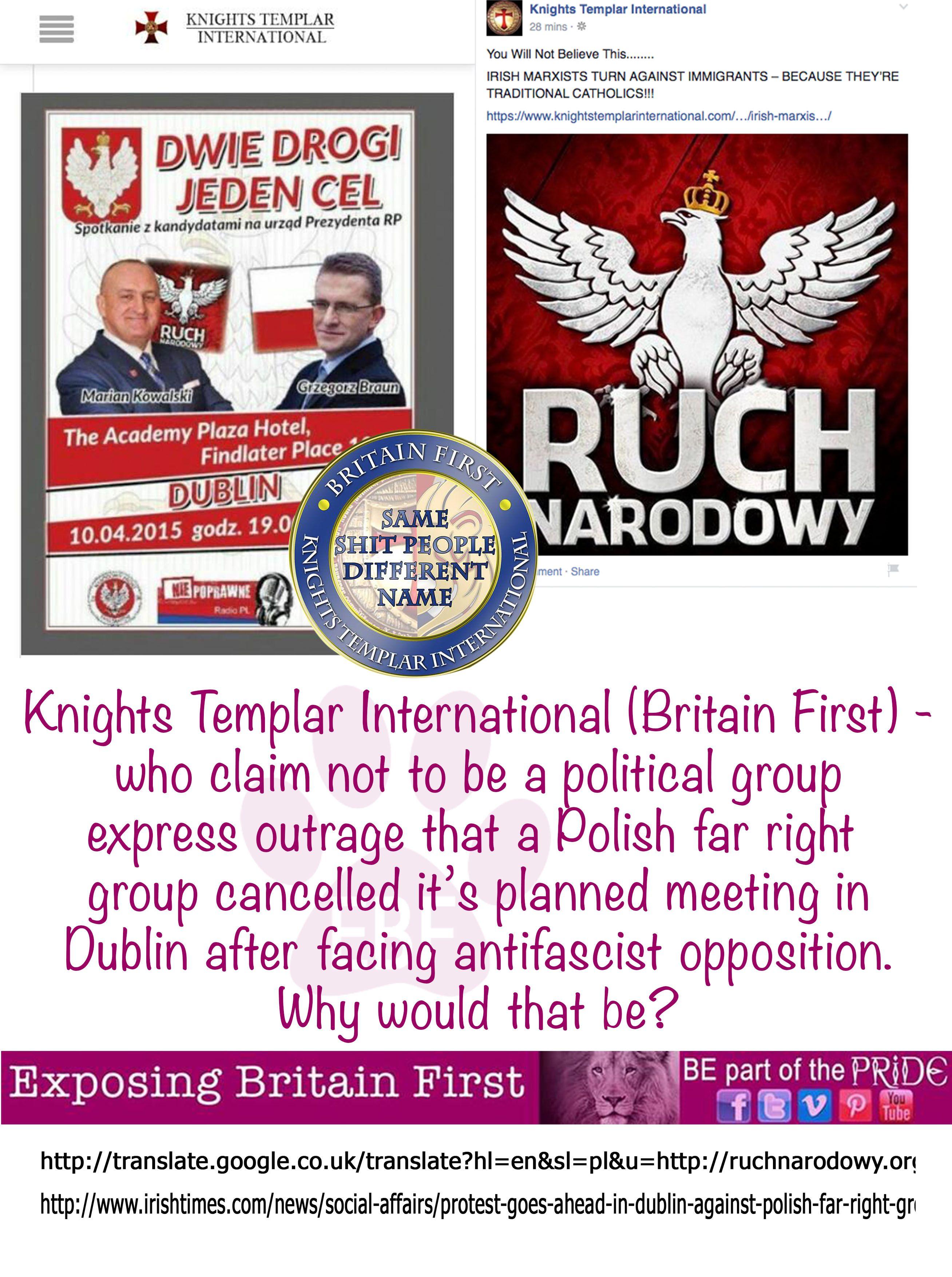 knights templar international aka britain first supporting polish