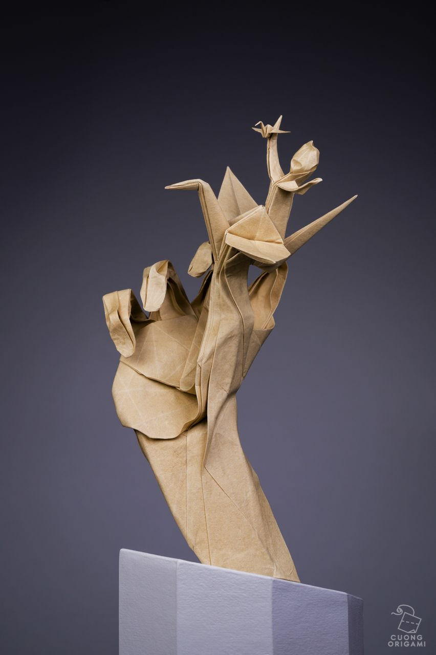 Origami Inception: Paper Artist Folds Four Works From a Single ...