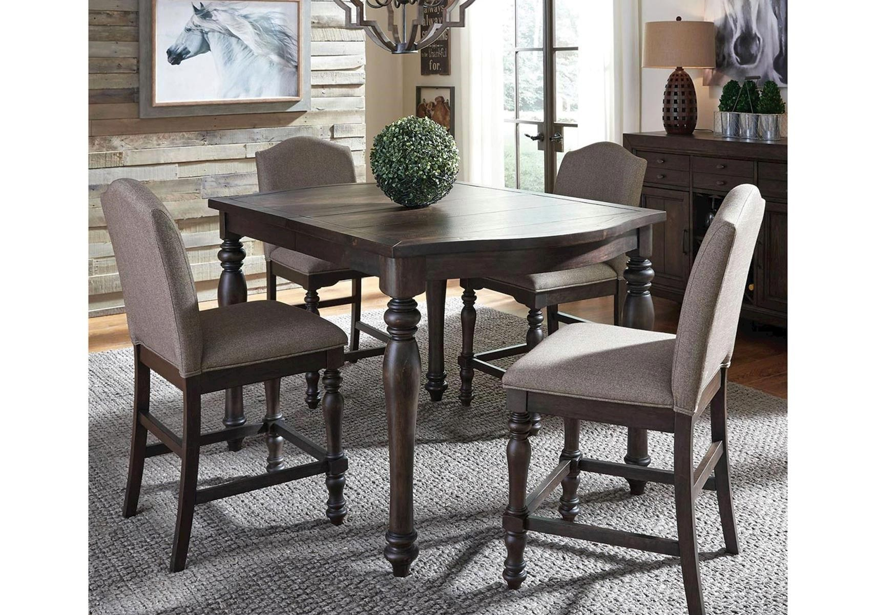Lacks Catawba 5Pc Counter Height Dining Set Counter