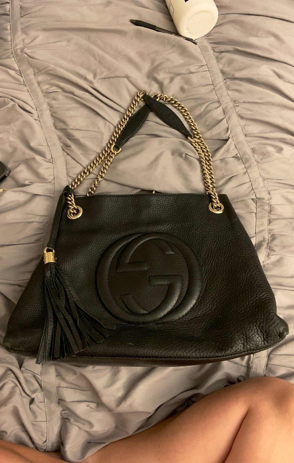 100% Authentic Gucci Medium Leather Soho Bag. Purchased from