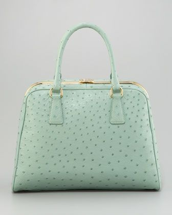 5e83384c9aef Ostrich Pyramid Tote by Prada at Bergdorf Goodman. Oh My Word. Only 7K!  What a steal .