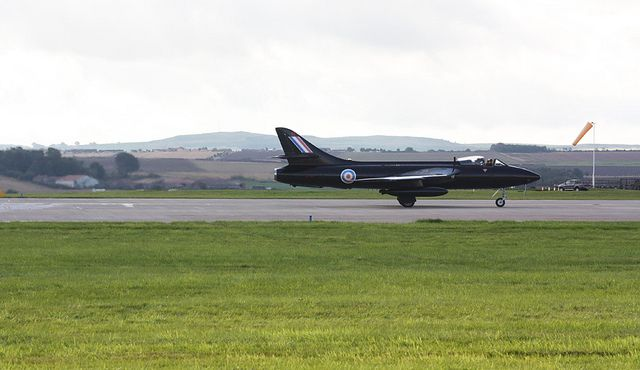 BLACK ARROWS Hawker Hunter Aerobatic Team -- one of the team aircraft