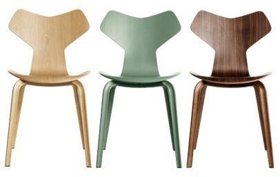 chaise grand prix pi tement bois dessin original arne jacobsen fritz hansen design. Black Bedroom Furniture Sets. Home Design Ideas