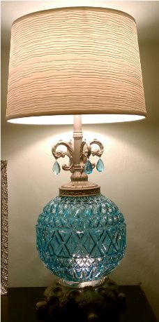 Old Brass Lamp Makeover